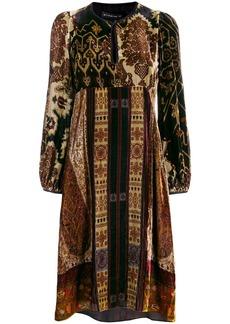 Etro crushed velvet dress