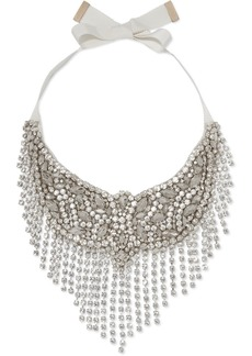 Etro Crystal And Grosgrain Necklace