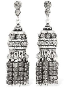 Etro Deco Tassel Earrings W/ Crystals
