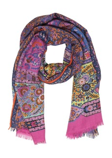Etro Delhy Printed Cashmere Scarf
