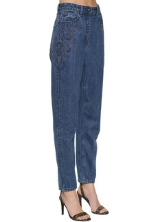 Etro Devon Embroidered Straight Leg Jeans