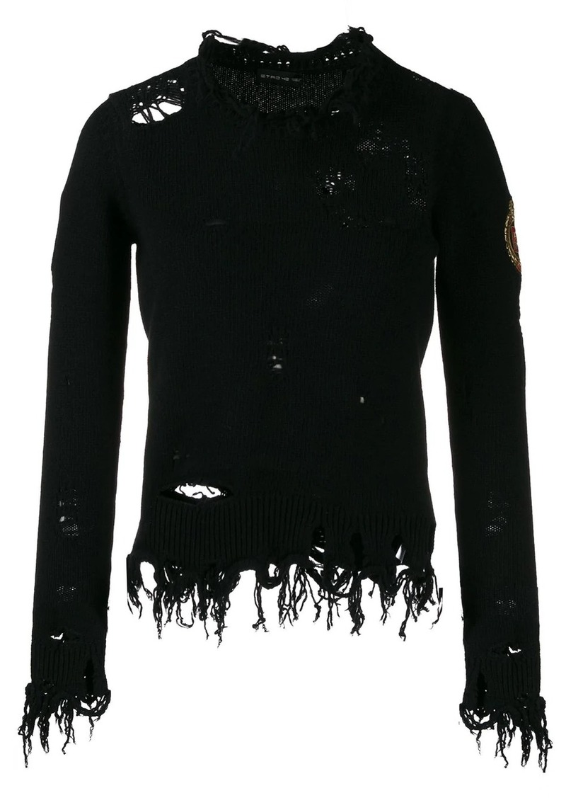 Etro distressed effect jumper