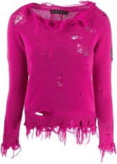 Etro distressed knitted sweater