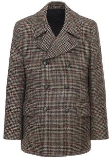 Etro Double Breasted Wool Caban Coat