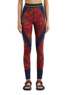 Etro Double-Knit Floral Jersey Leggings