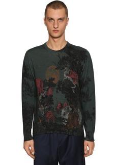 Etro Dragon Printed Wool Knit Sweater