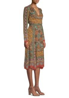 Etro Dream Catcher Printed Silk Dress