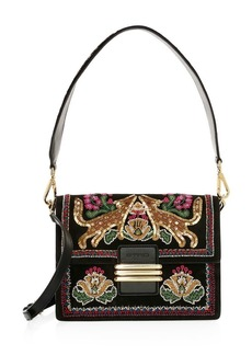 Etro Embellished Fox Shoulder Bag