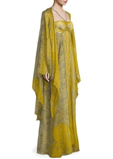 Etro Embellished Silk Georgette Paisley Gown
