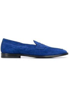 Etro embossed suede loafers