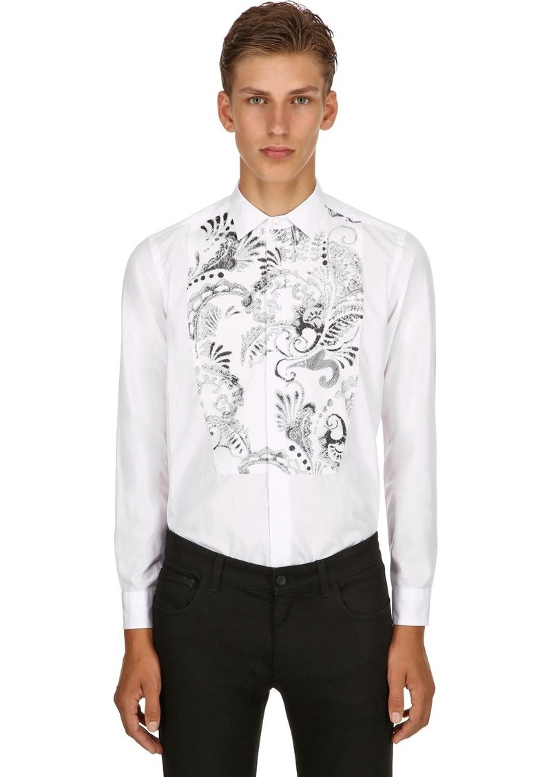 Etro Embroidered Cotton Poplin Shirt