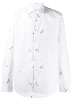 Etro embroidered dragonfly shirt