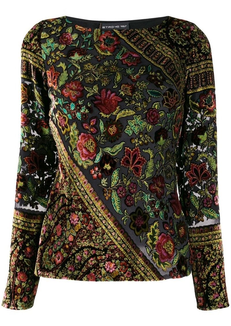 Etro embroidered floral blouse