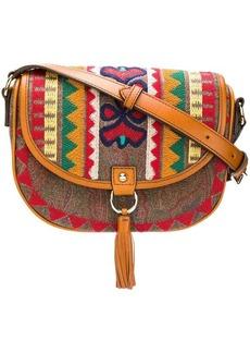 Etro embroidered foldover bag