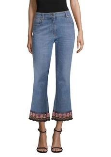 Etro Embroidered Hem Jeans