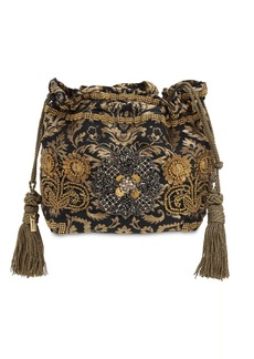 Etro Embroidered Jacquard Bag