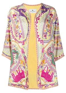 Etro embroidered kimono-style jacket