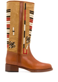 Etro embroidered knee-high boots