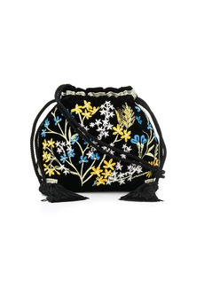 Etro embroidered mini bucket bag