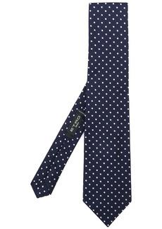 Etro embroidered polka-dot tie