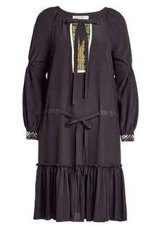 Etro Embroidered Silk Dress