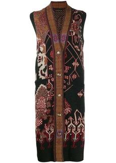 Etro embroidered sleeveless cardigan