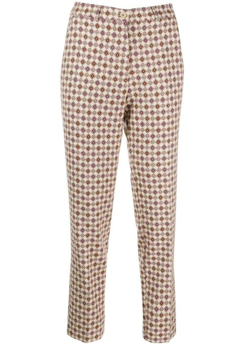 Etro embroidered slim-fit trousers
