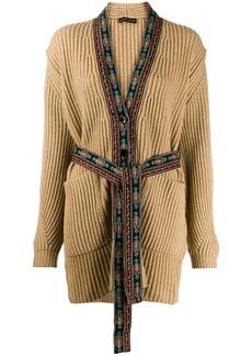 Etro embroidered trim cardigan