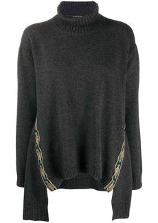 Etro embroidered trim poncho