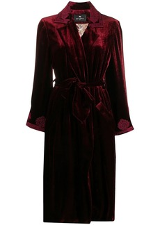 Etro embroidered velvet coat
