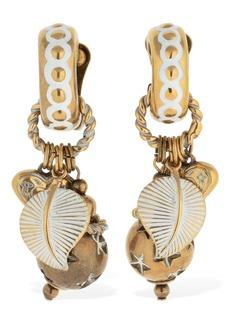 Etro Enameled Charm Clip-on Earrings