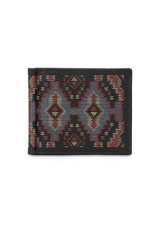 Etro Ethnic Leather Wallet W/ Money Clip