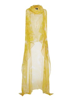 Etro - Women's Draped Silk Poncho - Print - Moda Operandi