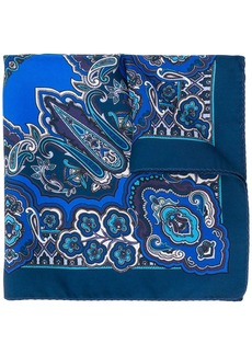 Etro paisley print silk pocket square