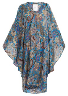 Etro Abstract paisley-print crepon kaftan