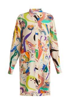 Etro Abstract-print silk shirtdress