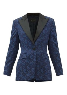 Etro Acacia single-breasted floral-jacquard jacket
