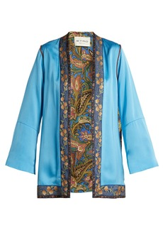Etro Agate floral-brocade satin jacket