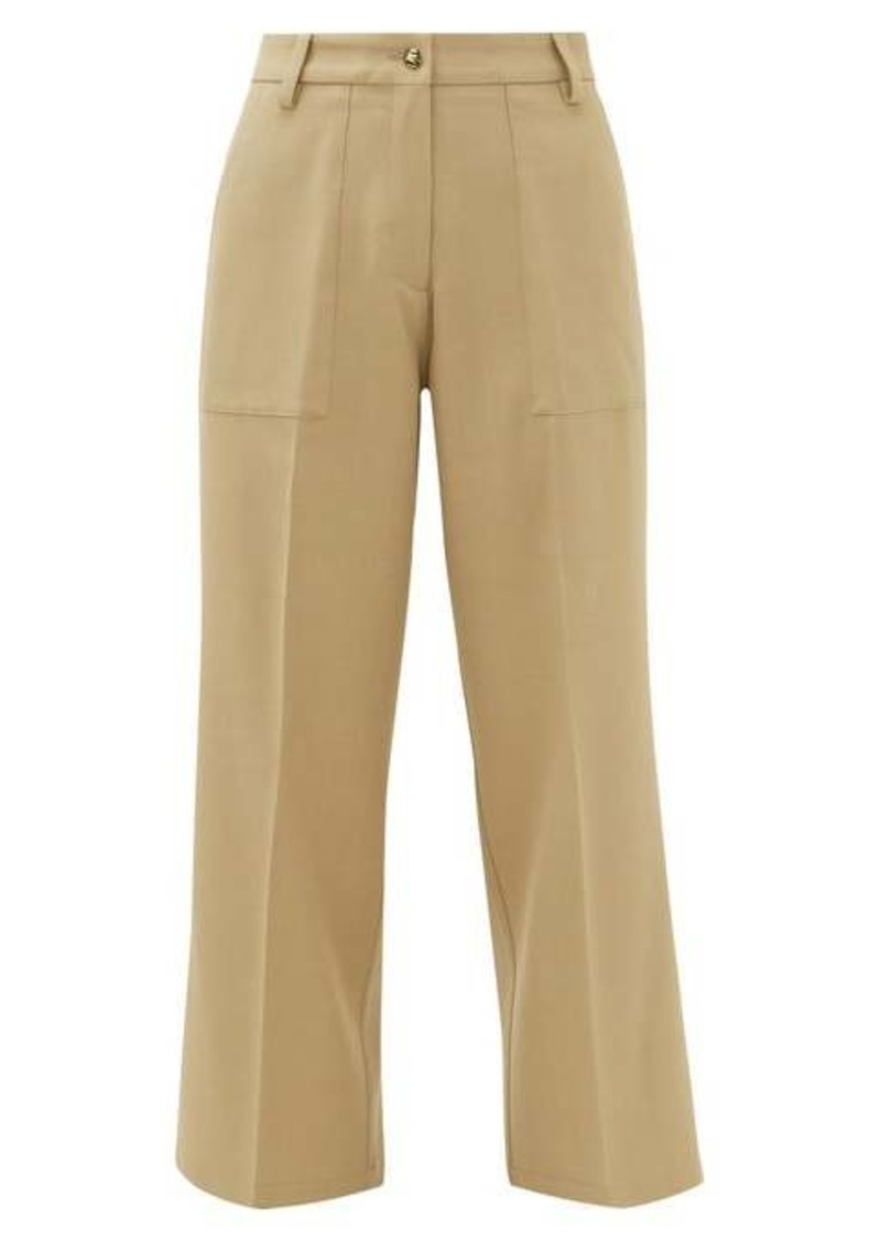 Etro Agave wide-leg twill trousers