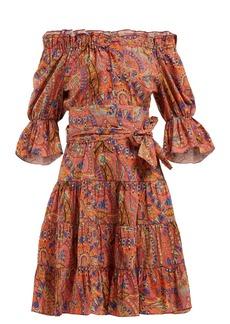 Etro Airwaves off-the-shoulder cotton dress