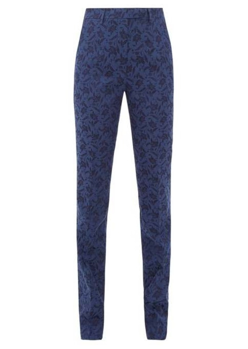 Etro Altea floral-jacquard trousers