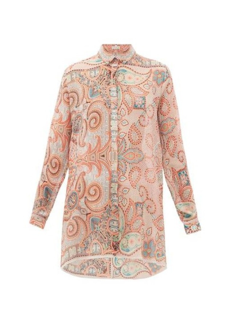 Etro Altea paisley-print silk-georgette shirt