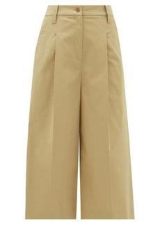Etro Alyssa cropped stretch-cotton culottes