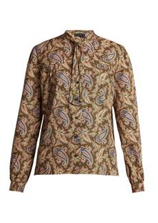 Etro Anatase paisley-print pussy-bow blouse