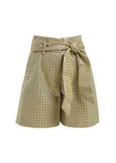 Etro Andromeda geometric-jacquard tie-waist shorts