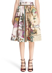 Etro Animal Postcard Print Skirt
