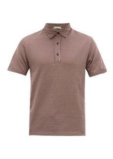 Etro Argyle-patterned cotton-jersey polo shirt