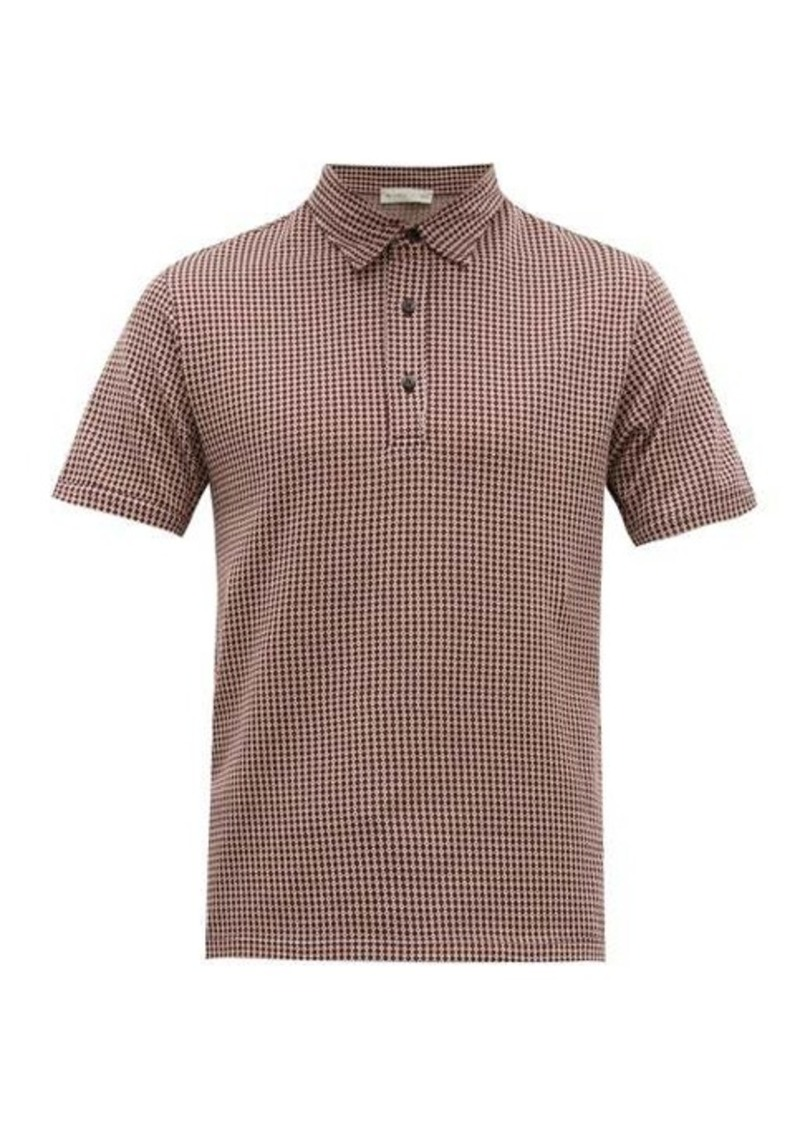 Etro Argyle-patterned cotton-jersey polo shirt