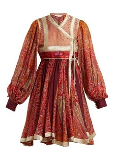 Etro Bangalore paisley-print cotton-blend wrap dress