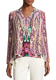 Etro Batik Two-Button Short Blazer